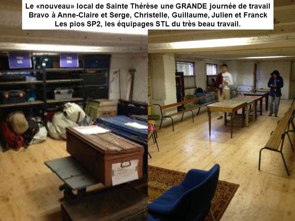 Le «nouveau» local de la Compassion : plusieurs étapes mais une belle réussite Bravo à Vinciane, Olivia, Marie-Andrée, léquipage NDC un magnifique job