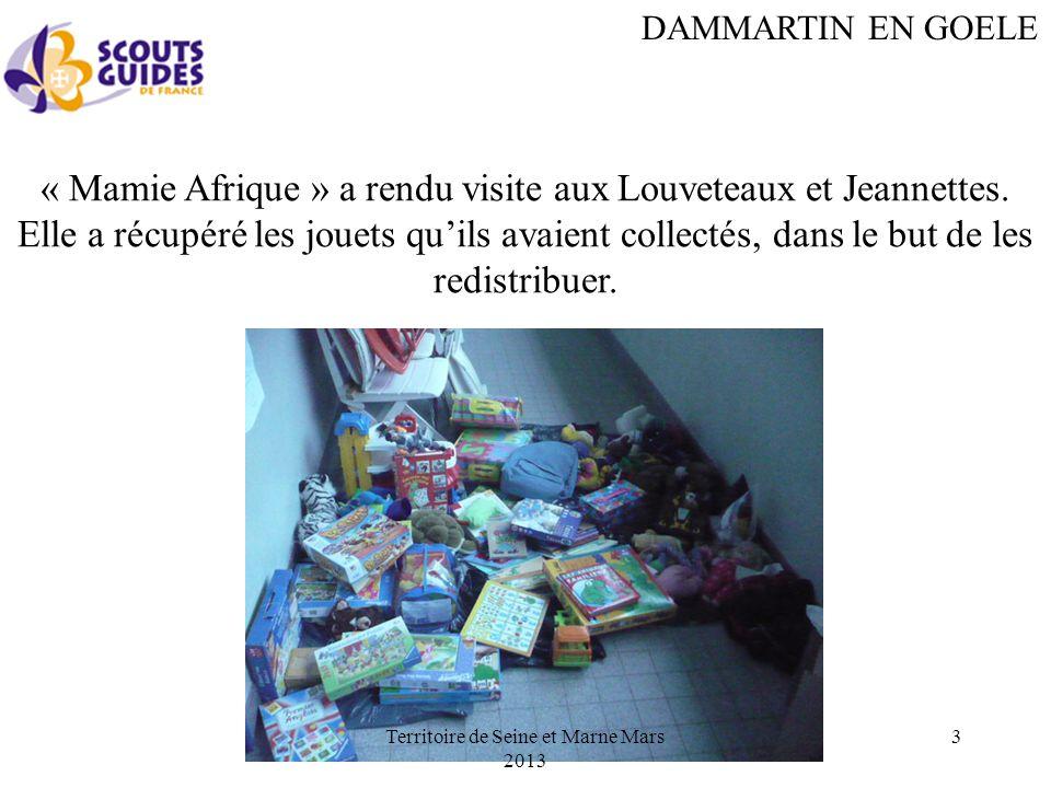 DAMMARTIN EN GOELE « Mamie Afrique » a rendu visite aux Louveteaux et Jeannettes.
