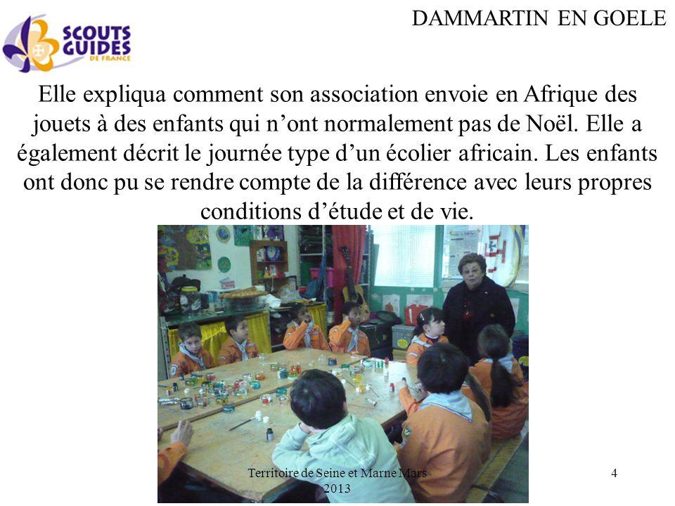 DAMMARTIN EN GOELE Elle expliqua comment son association envoie en Afrique des jouets à des enfants qui nont normalement pas de Noël.