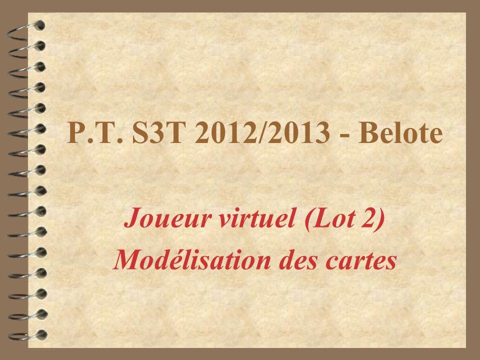 P.T. S3T 2012/2013 - Belote Joueur virtuel (Lot 2) Modélisation des cartes