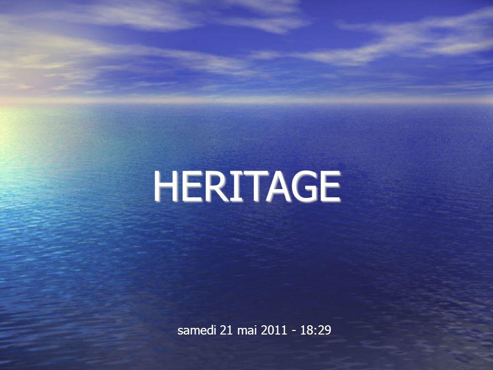 HERITAGE samedi 21 mai 2011 - 18:29