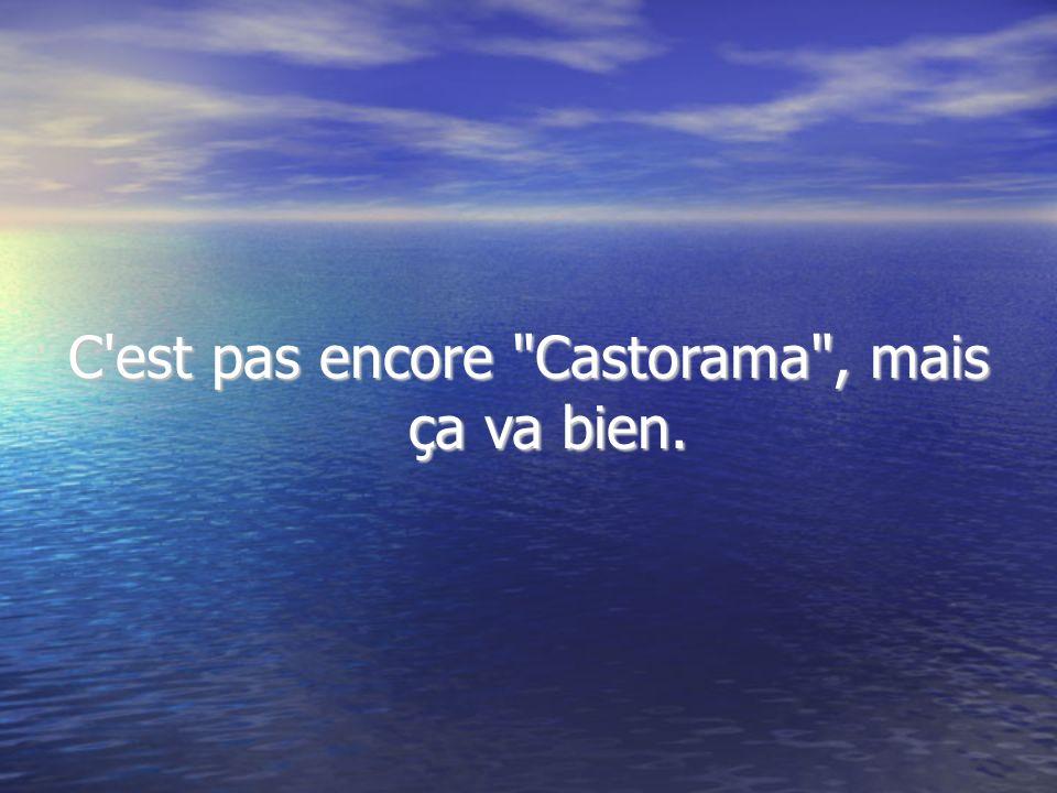 C est pas encore Castorama , mais ça va bien.