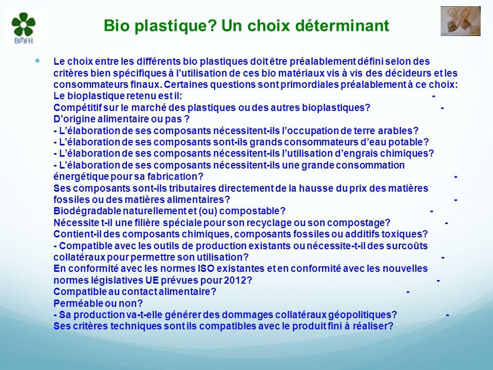 Bio plastique.