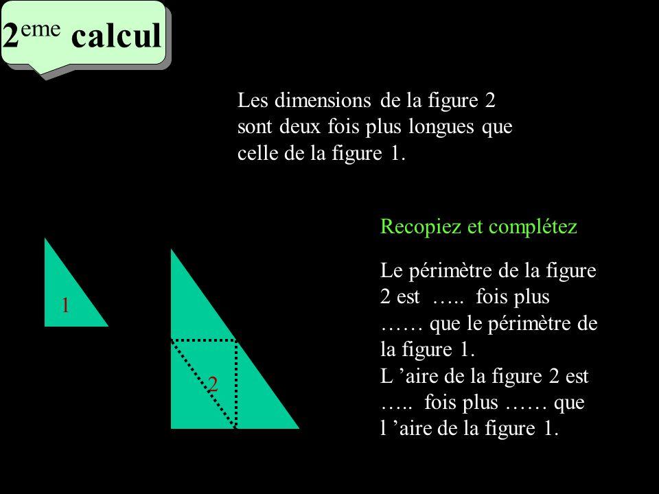 3 eme calcul 3 eme calcul 3 eme calcul Recopiez et complétez 1 2 Son volume est ….