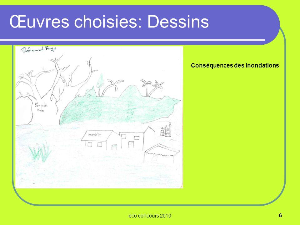 eco concours 20106 Conséquences des inondations Œuvres choisies: Dessins