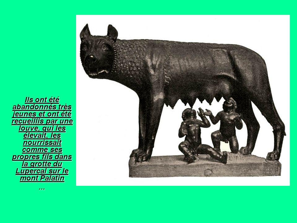 Ils ont été abandonnés très jeunes et ont été recueillis par une louve, qui les élevait, les nourrissait comme ses propres fils dans la grotte du Lupe