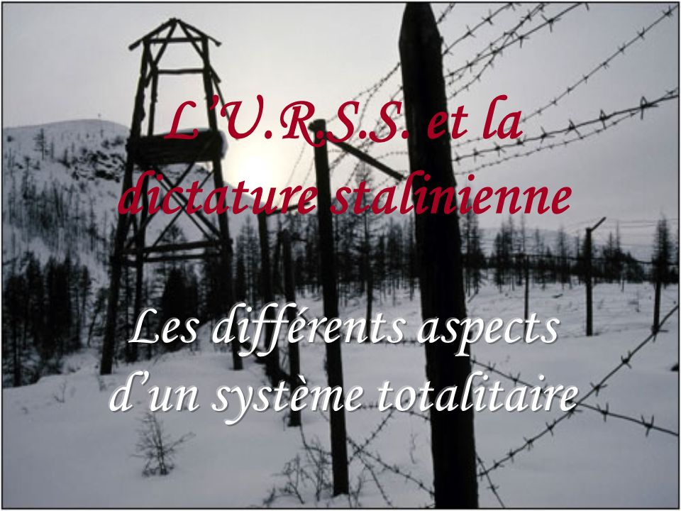 LU.R.S.S. et la dictature stalinienne