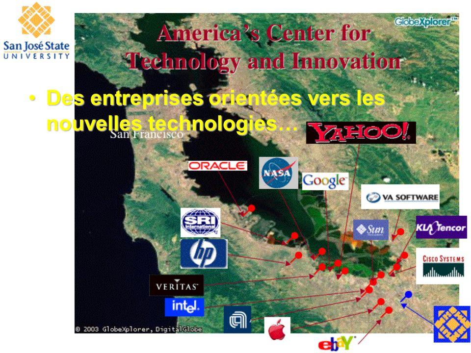 Des entreprises orientées vers les nouvelles technologies…Des entreprises orientées vers les nouvelles technologies…