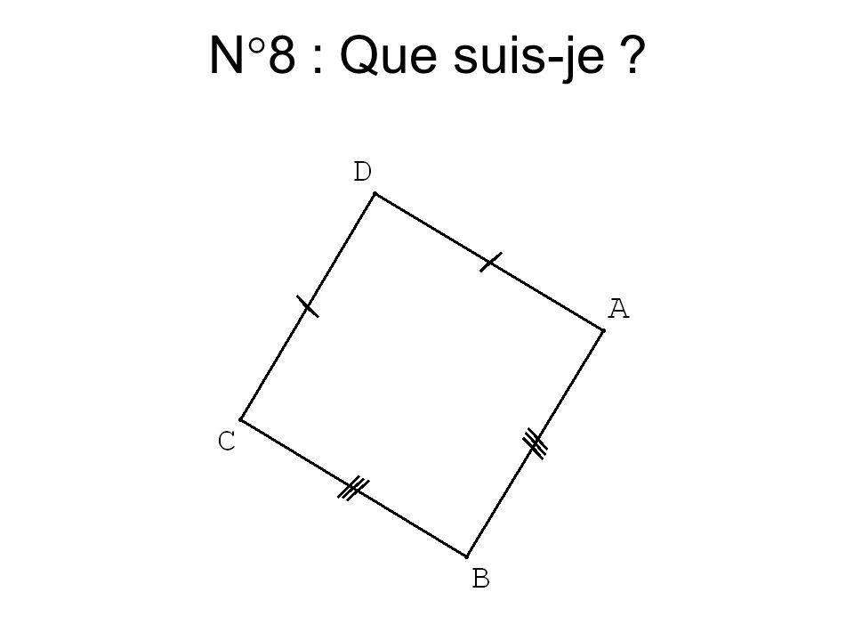 N°7 : Que suis-je ?