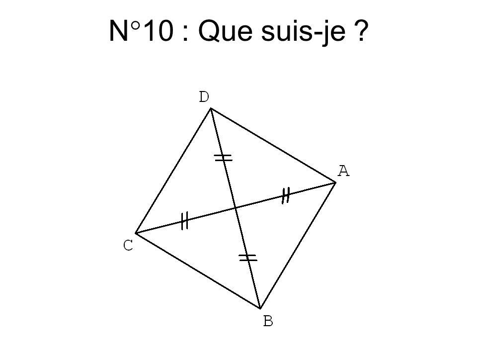N°9 : Que suis-je ?