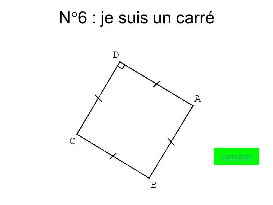 N°5 : je suis un rectangle Correction