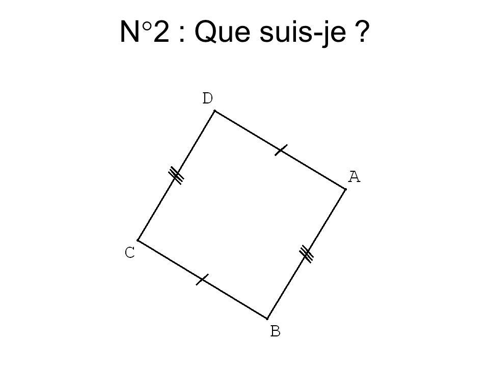 N°1 : Mais … que suis-je ?