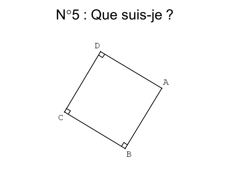 N°4 : Que suis-je ?