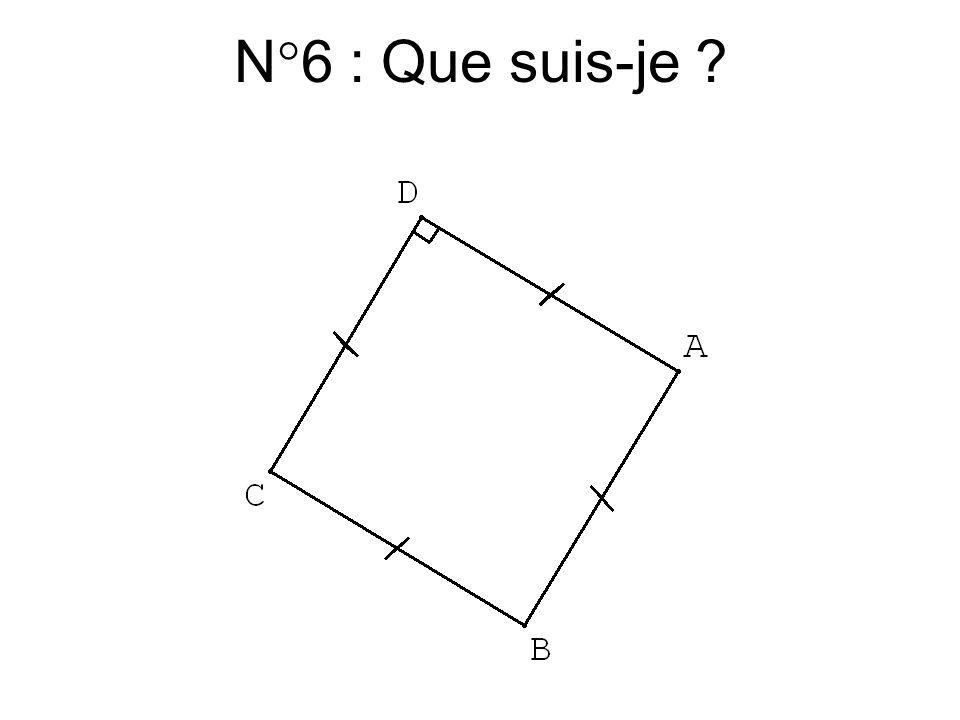 N°5 : Que suis-je ?