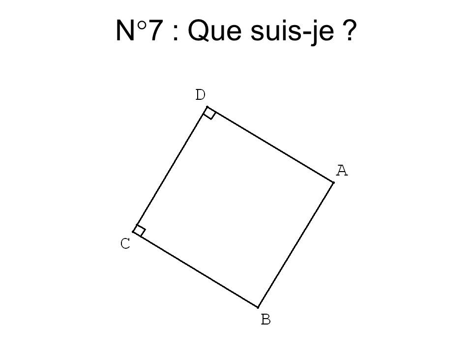 N°6 : Que suis-je ?