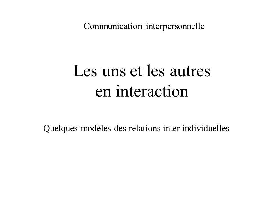 Communication interpersonnelle Relation + Information