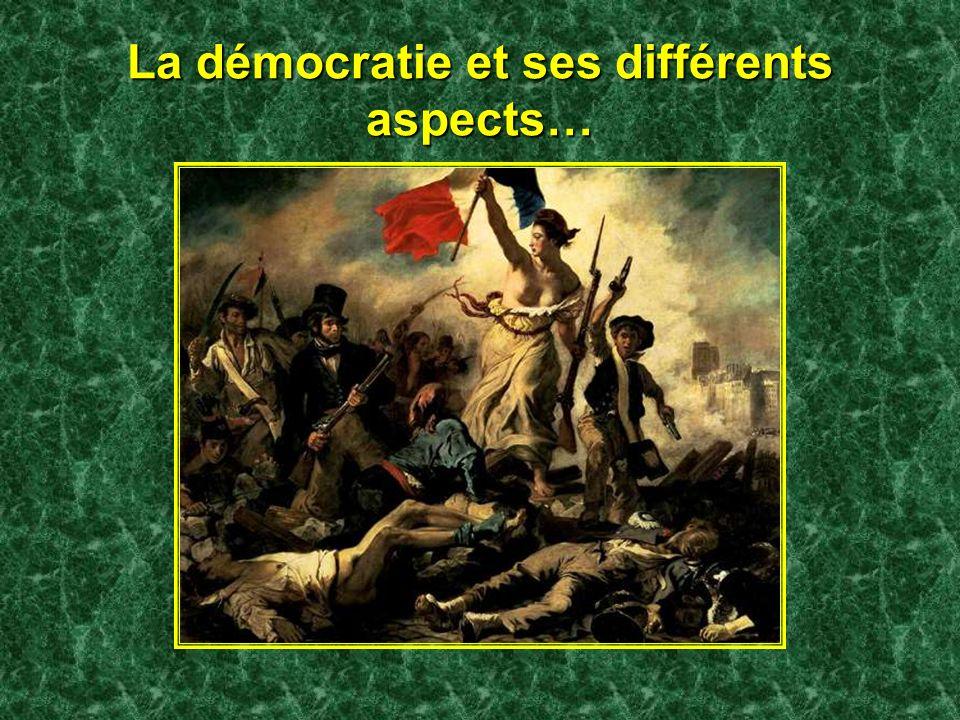 La démocratie et ses différents aspects…