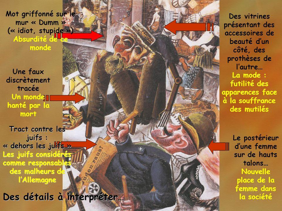 Des détails à interpréter… Tract contre les juifs : « dehors les juifs » Les juifs considérés comme responsables des malheurs de lAllemagne Mot griffo