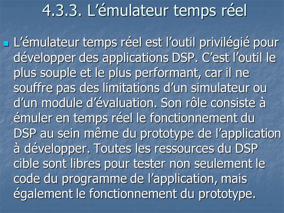 4.3.3.Lémulateur temps réel 4.3.3.