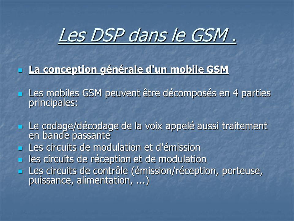 Les DSP dans le GSM.