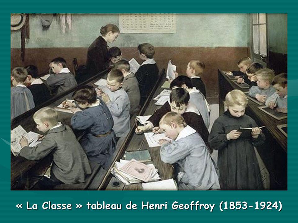 « La Classe » tableau de Henri Geoffroy (1853-1924)