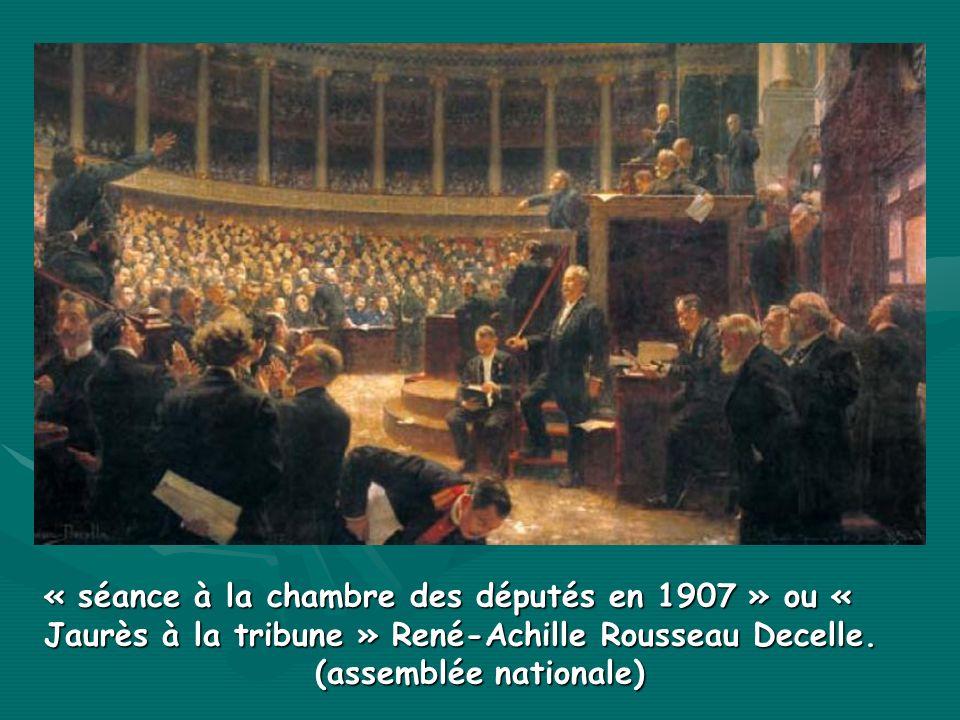 « séance à la chambre des députés en 1907 » ou « Jaurès à la tribune » René-Achille Rousseau Decelle. (assemblée nationale)
