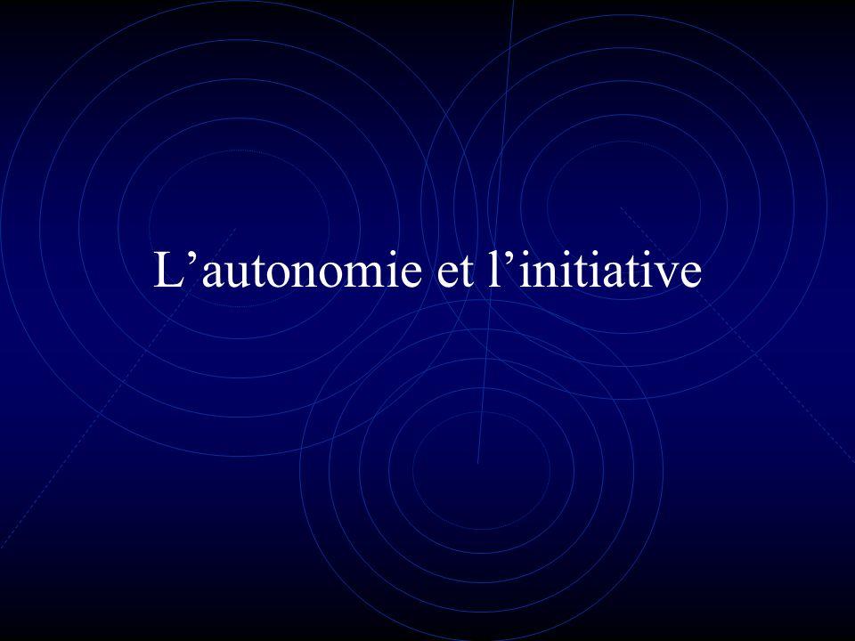 Lautonomie et linitiative
