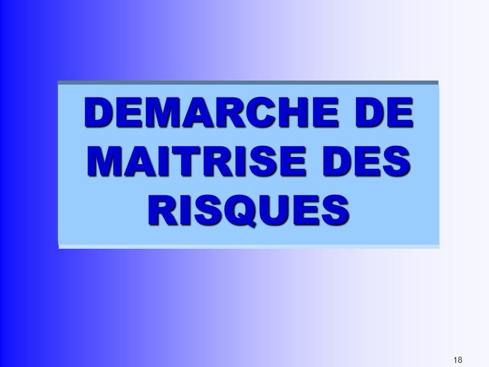 DEMARCHE DE MAITRISE DES RISQUES 18