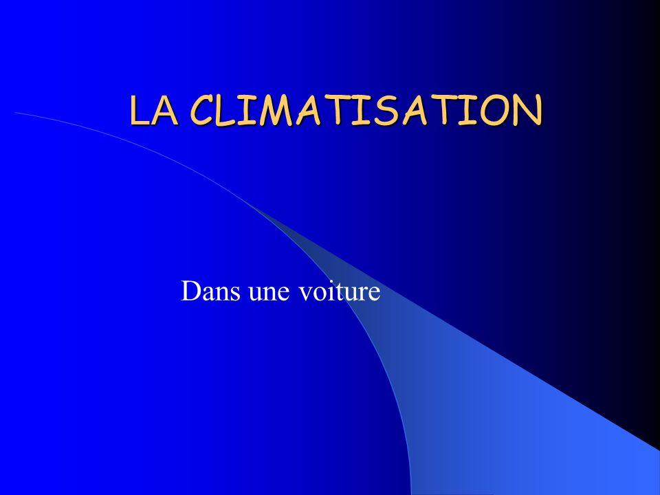 LA CLIMATISATION Dans une voiture