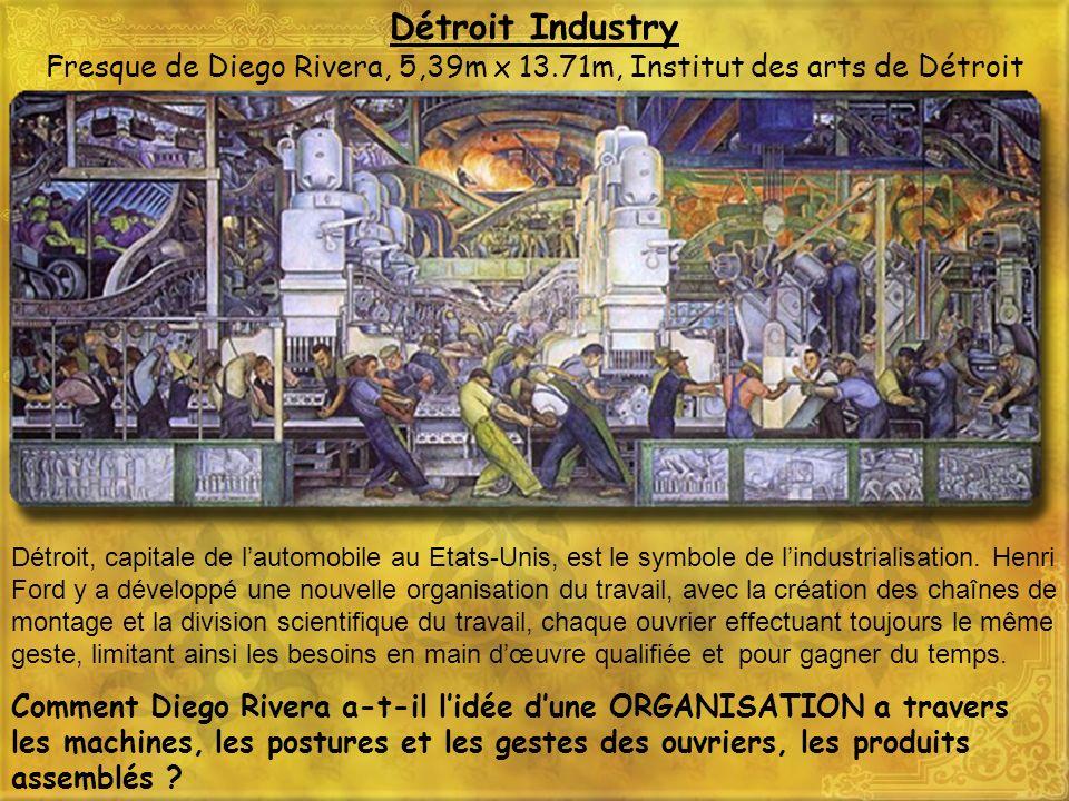 Détroit Industry Fresque de Diego Rivera, 5,39m x 13.71m, Institut des arts de Détroit Détroit, capitale de lautomobile au Etats-Unis, est le symbole