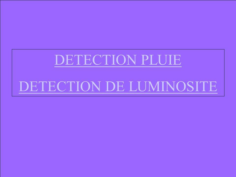 DETECTION PLUIE DETECTION DE LUMINOSITE