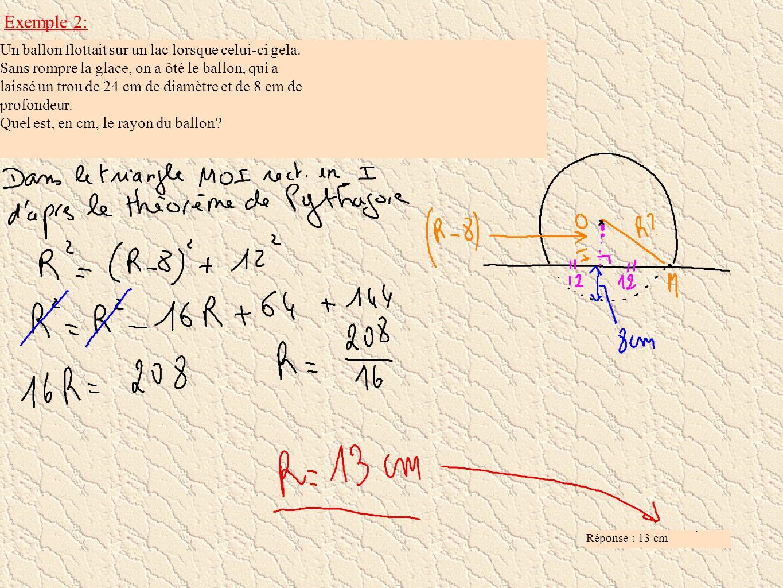 Cas particuliers Remarque : La section d une sphère par un plan passant par le centre de la sphère est appelé grand cercle de la sphère.