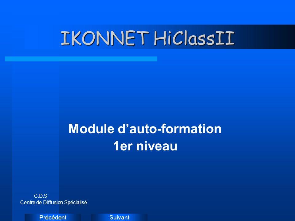 SuivantPrécédent IKONNET HiClassII Module dauto-formation 1er niveau C.D.S Centre de Diffusion Spécialisé Instructions: Supprimez les exemples d icônes de document et remplacez-les par les icônes des documents de travail, comme suit : Créez un document dans Word.