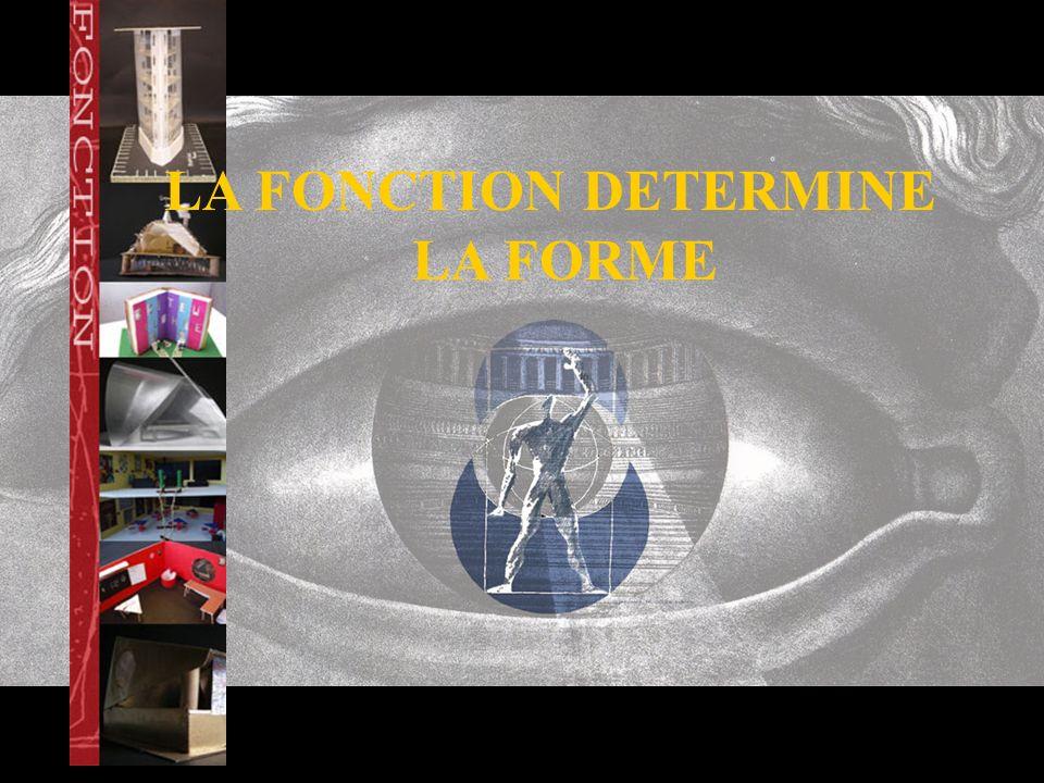 LA FONCTION DETERMINE LA FORME