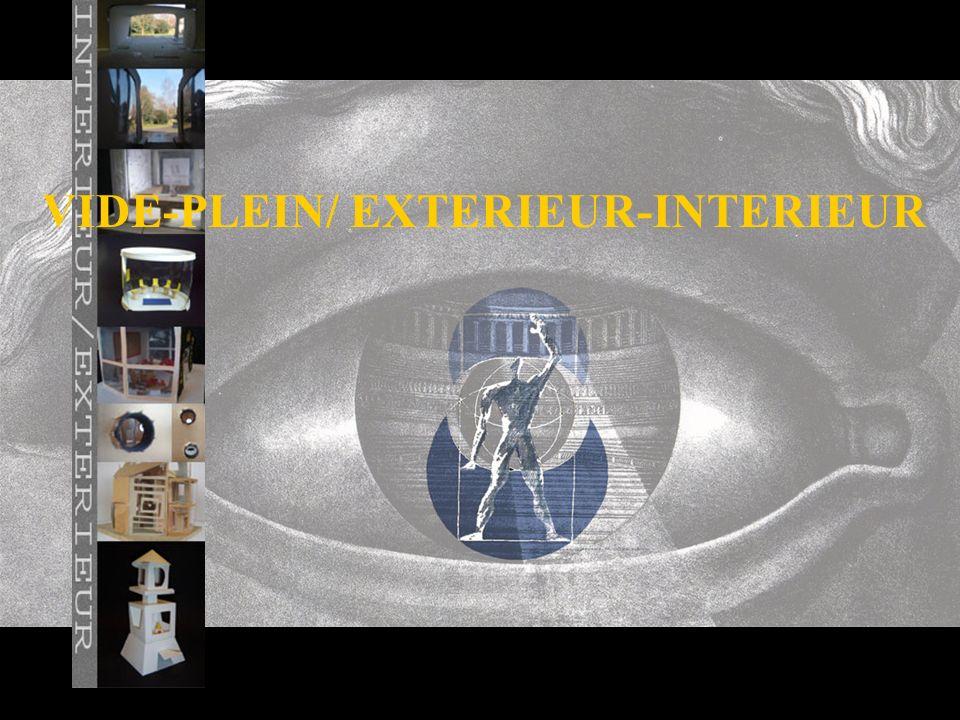 VIDE-PLEIN/ EXTERIEUR-INTERIEUR