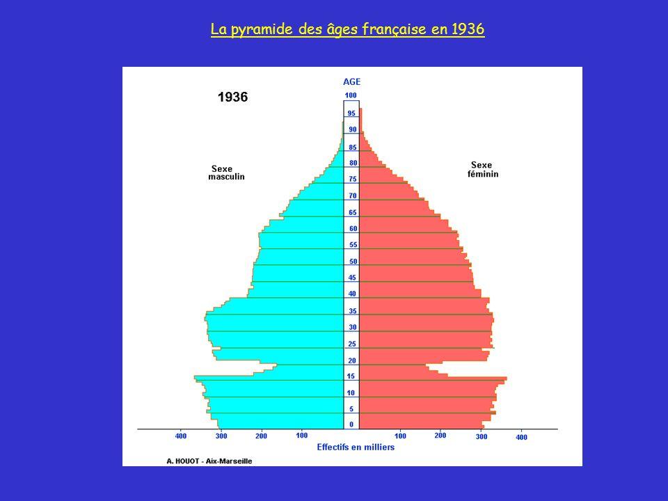 La pyramide des âges française en 1936