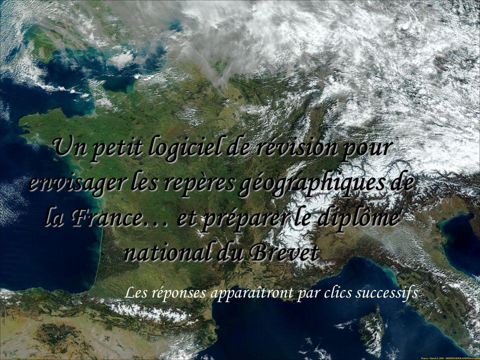 Un petit logiciel de révision pour envisager les repères géographiques de la France… et préparer le diplôme national du Brevet Les réponses apparaîtro