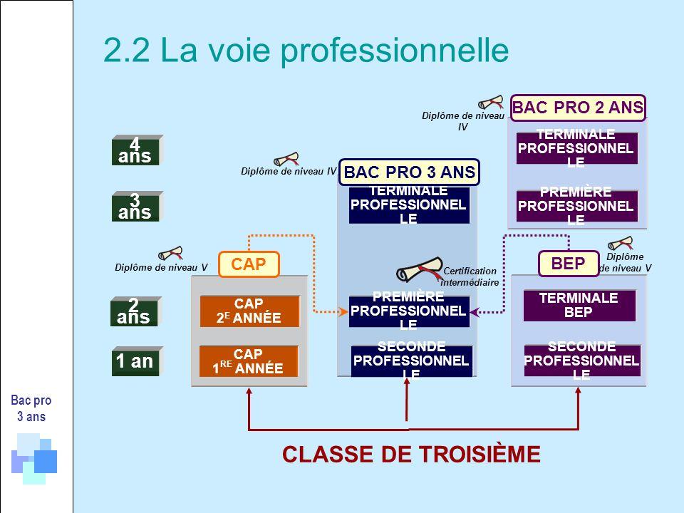 Bac pro 3 ans CAP 2 2 NDE PRO T BEP BEP CAP 2 NDE GT 1 RE PRO1 RE G 1 RE T CAP 1 T PRO Certification intermédiaire Décret n°2009-148 du 10 février 2009 Art.