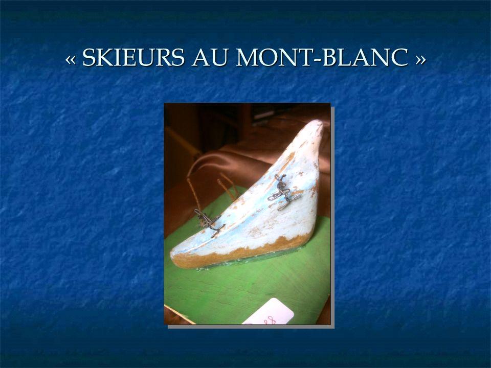 « SKIEURS AU MONT-BLANC »