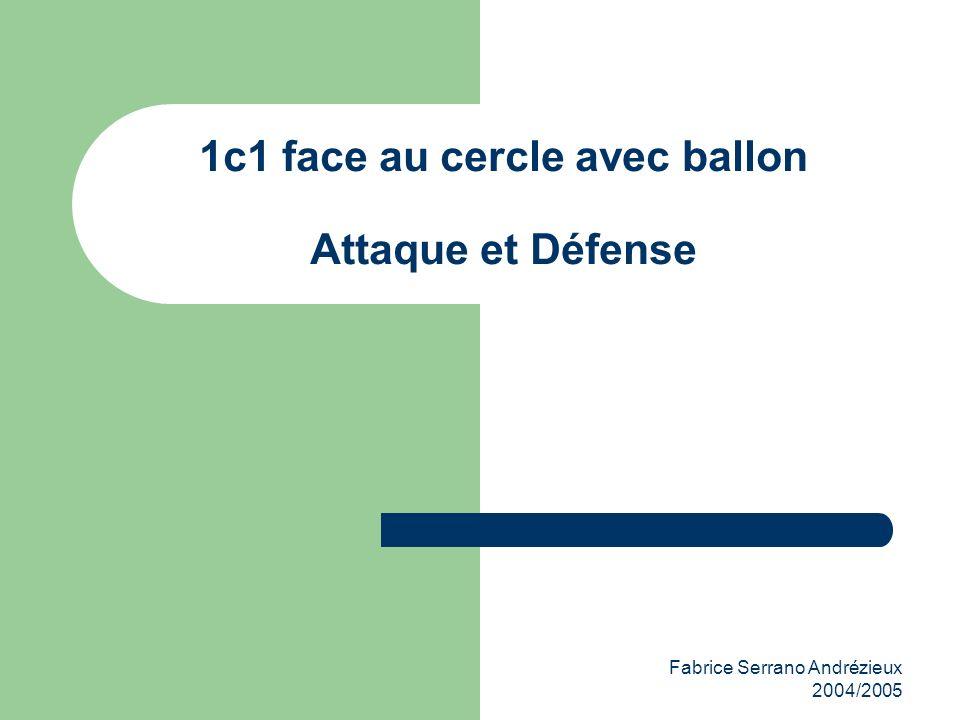 Fabrice Serrano Andrézieux 2004/2005 1c1 face au cercle avec ballon Attaque et Défense