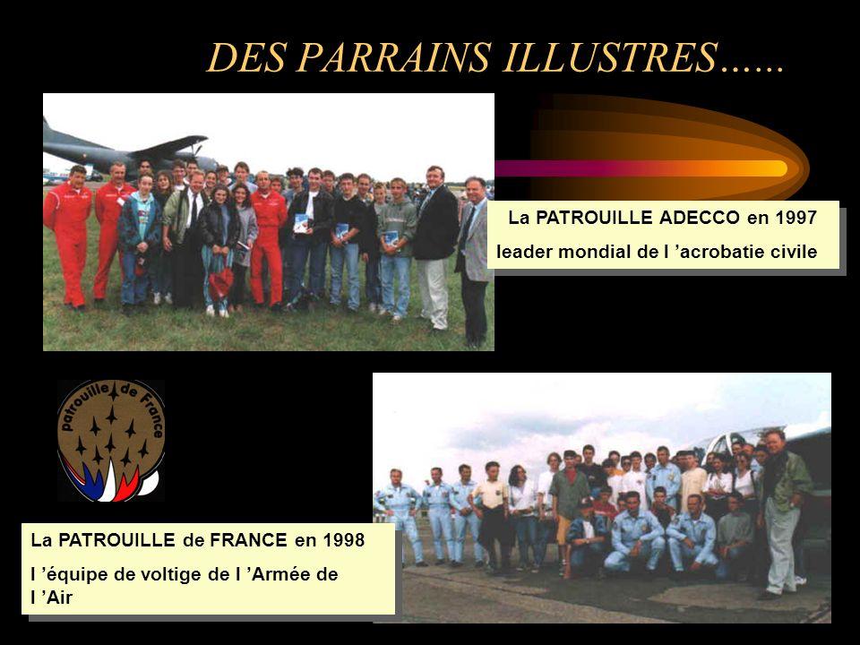 DES PARRAINS ILLUSTRES…... La PATROUILLE ADECCO en 1997 leader mondial de l acrobatie civile La PATROUILLE ADECCO en 1997 leader mondial de l acrobati