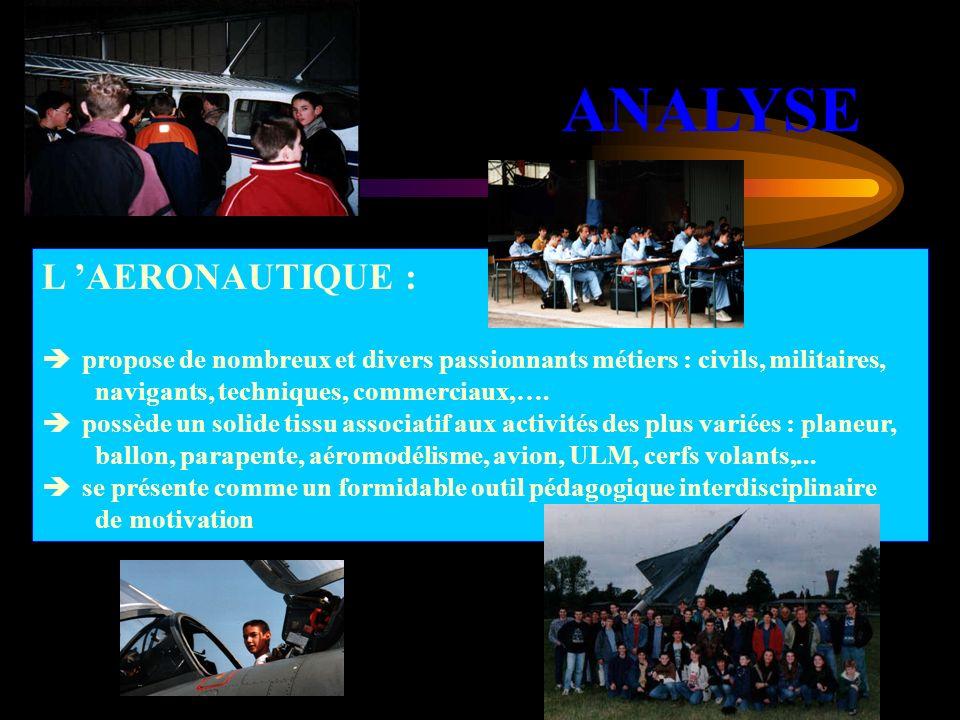 L AERONAUTIQUE : propose de nombreux et divers passionnants métiers : civils, militaires, navigants, techniques, commerciaux,…. possède un solide tiss