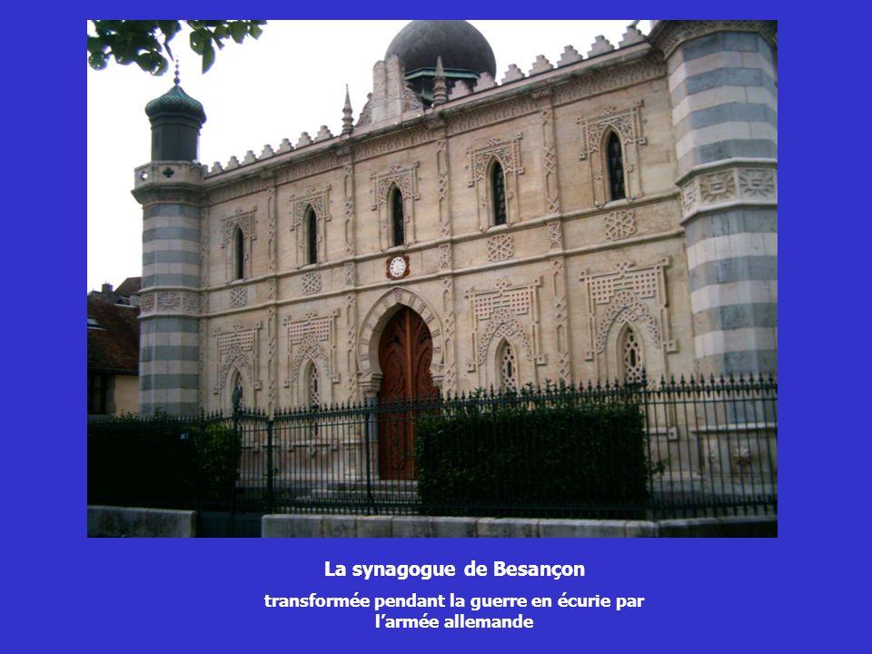 La synagogue de Besançon transformée pendant la guerre en écurie par larmée allemande
