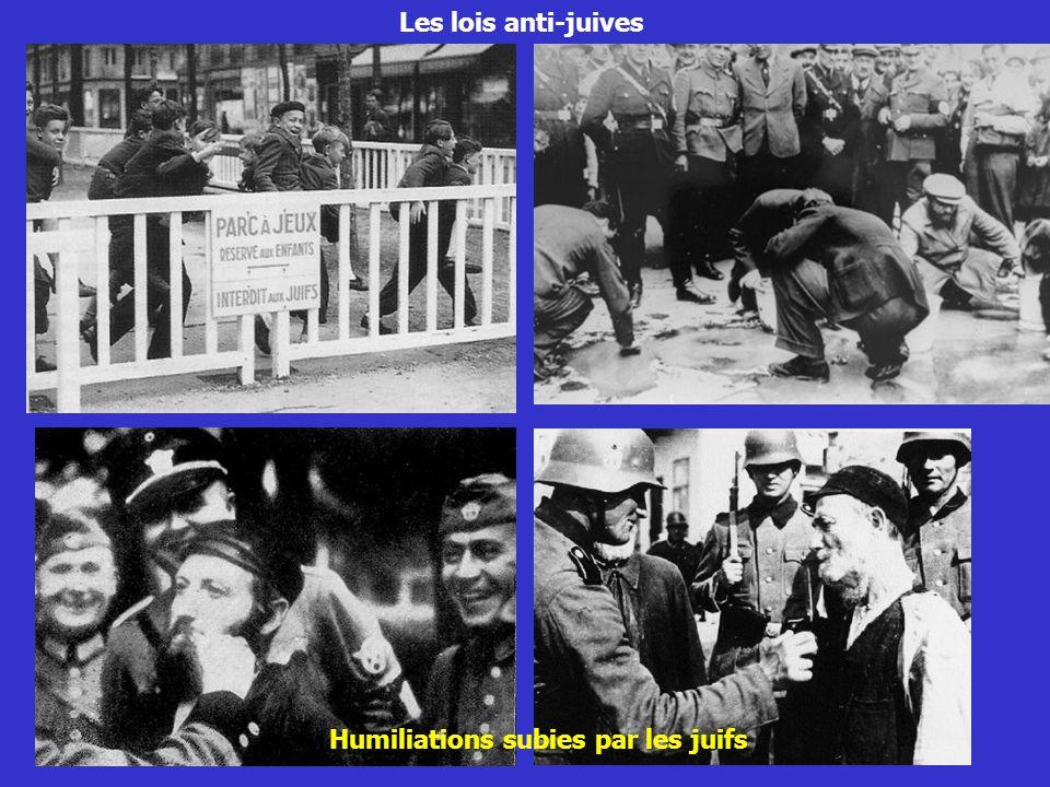 Les lois anti-juives Humiliations subies par les juifs