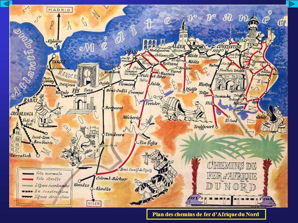 Plan des chemins de fer dAfrique du Nord