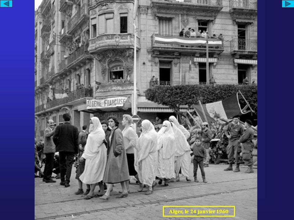 Militaires français effectuant un contrôle Militaires français arrêtant un combattant du FLN