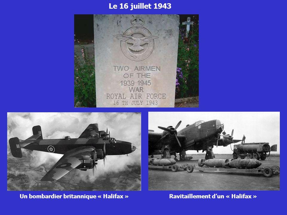 Un bombardier britannique « Halifax »Ravitaillement dun « Halifax »