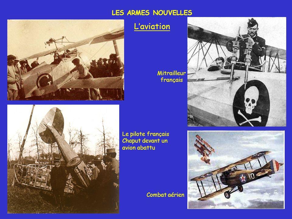 LES ARMES NOUVELLES Laviation Combat aérien Mitrailleur français Le pilote français Chaput devant un avion abattu