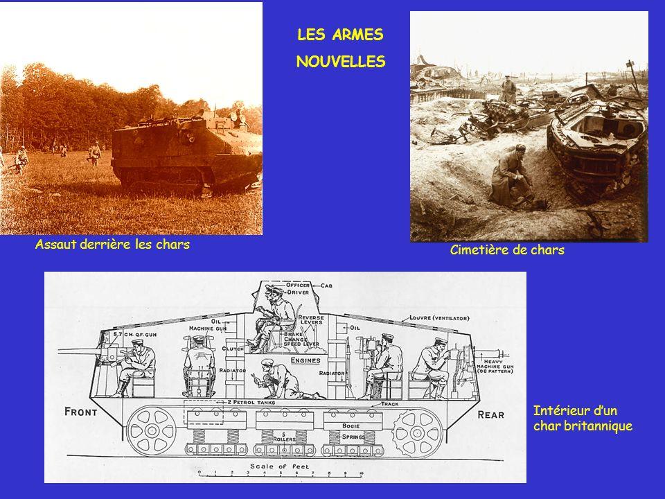LES ARMES NOUVELLES Assaut derrière les chars Cimetière de chars Intérieur dun char britannique