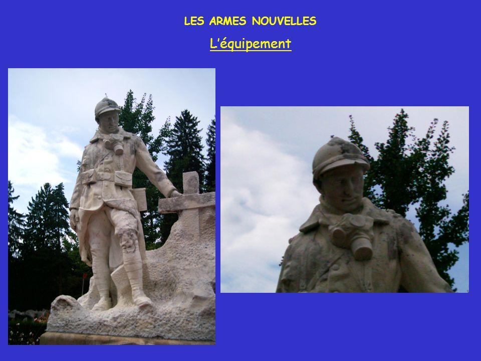LES ARMES NOUVELLES Une mitrailleuse (machine gun en anglais) montée sur un side-car américain Boucliers roulants français.